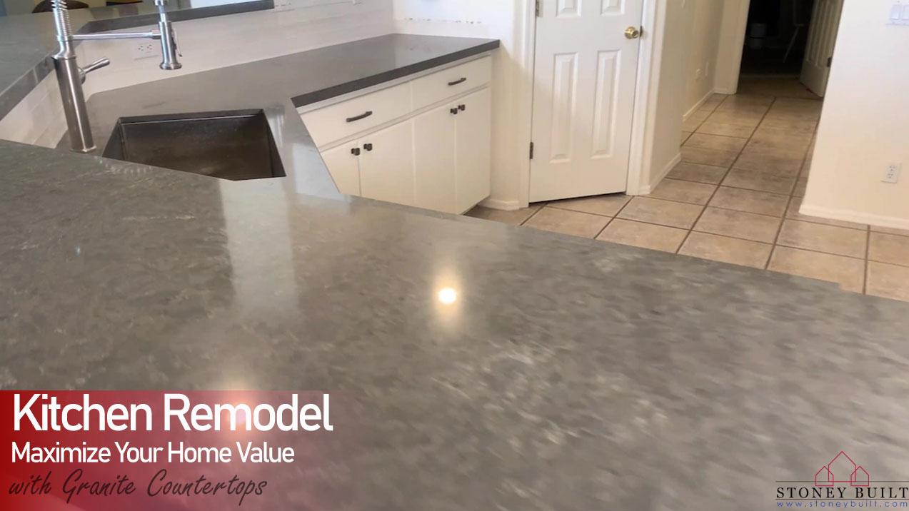 Granite Countertops & Tile Backsplash on 63rd Place | Stoney Built